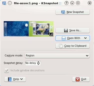 Cómo hacer capturas de pantalla perfectas con KSnapshot