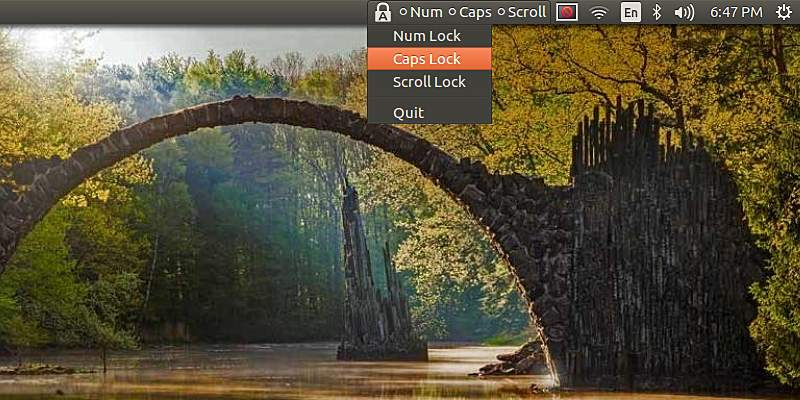 Cómo comprobar el estado de las teclas de bloqueo de mayúsculas, numérico y de desplazamiento en la pantalla en Ubuntu