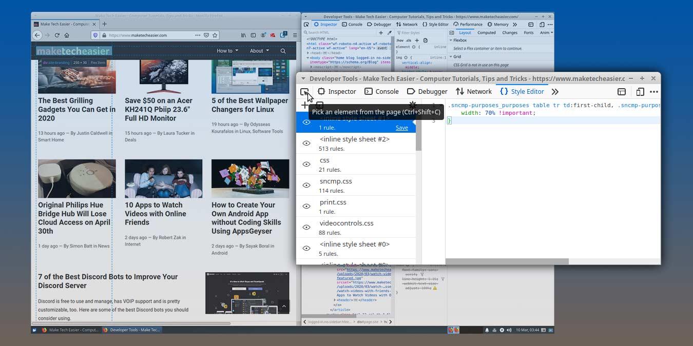 Cómo editar en vivo un sitio con la herramienta de desarrollo web de Firefox