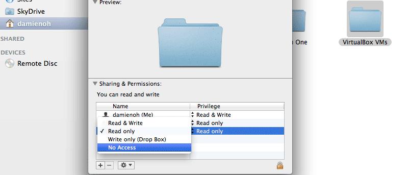 Cómo hacer que una carpeta sea privada en Mac OS X