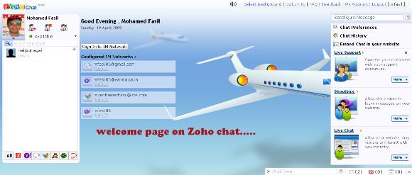 Conéctese a múltiples servicios de mensajería instantánea con Zoho Chat