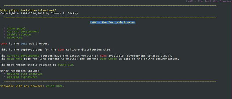 Cómo descargar, instalar y utilizar el navegador web basado en la línea de comandos Lynx en Ubuntu