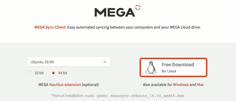 Cómo acceder al servicio de almacenamiento en la nube de MEGA en Ubuntu utilizando MEGAsync