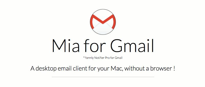 Mia para Gmail: Acceda a Gmail desde la barra de menús de su Mac