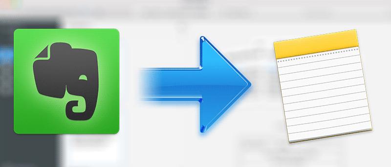 Cómo transferir notas de Evernote a Apple Notes