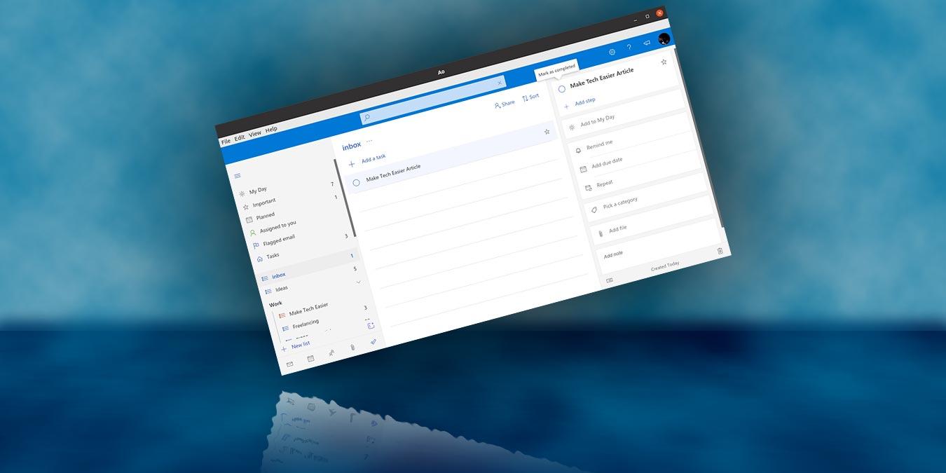 Cómo gestionar sus tareas pendientes de Microsoft en Linux con AO