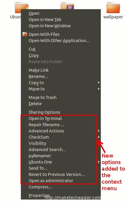 Las acciones extra de Nautilus añaden un montón de opciones útiles a su menú contextual [Ubuntu Nautilus]