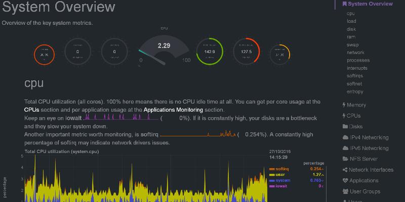 Cómo supervisar la salud y el rendimiento del sistema Linux con Netdata