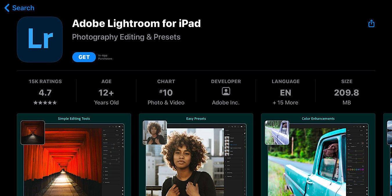 La actualización de Lightroom elimina las fotos y los ajustes preestablecidos en el iPhone y el iPad