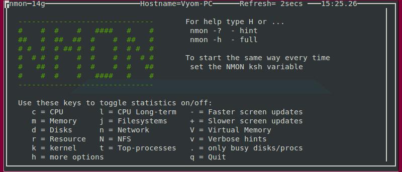 Monitorizar el rendimiento del sistema Linux usando Nmon