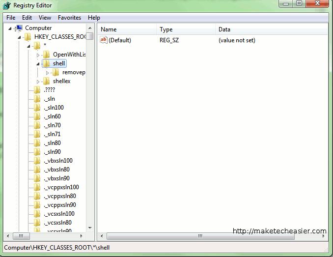 """Cómo poner """"Abrir con Bloc de notas"""" en cada menú contextual en Windows 7"""