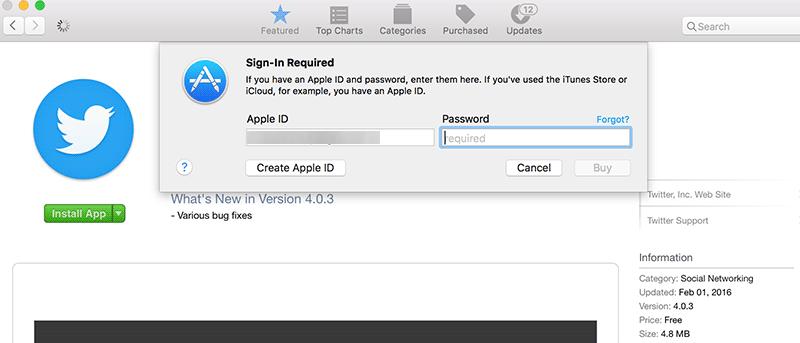 Cómo evitar la solicitud de contraseña al descargar aplicaciones gratuitas de la Mac App Store