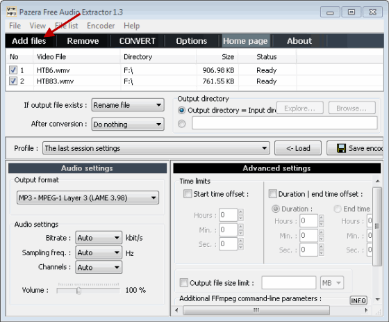 Cómo extraer el audio de un archivo de vídeo con el extractor de audio Pazera
