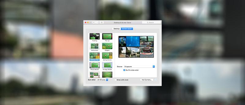 Cómo establecer una biblioteca de fotos como protector de pantalla en su Mac