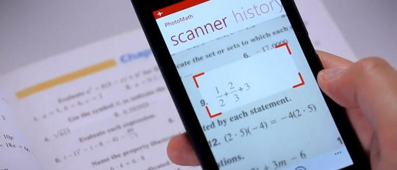 Utilice la aplicación PhotoMath para resolver ecuaciones matemáticas en tiempo real