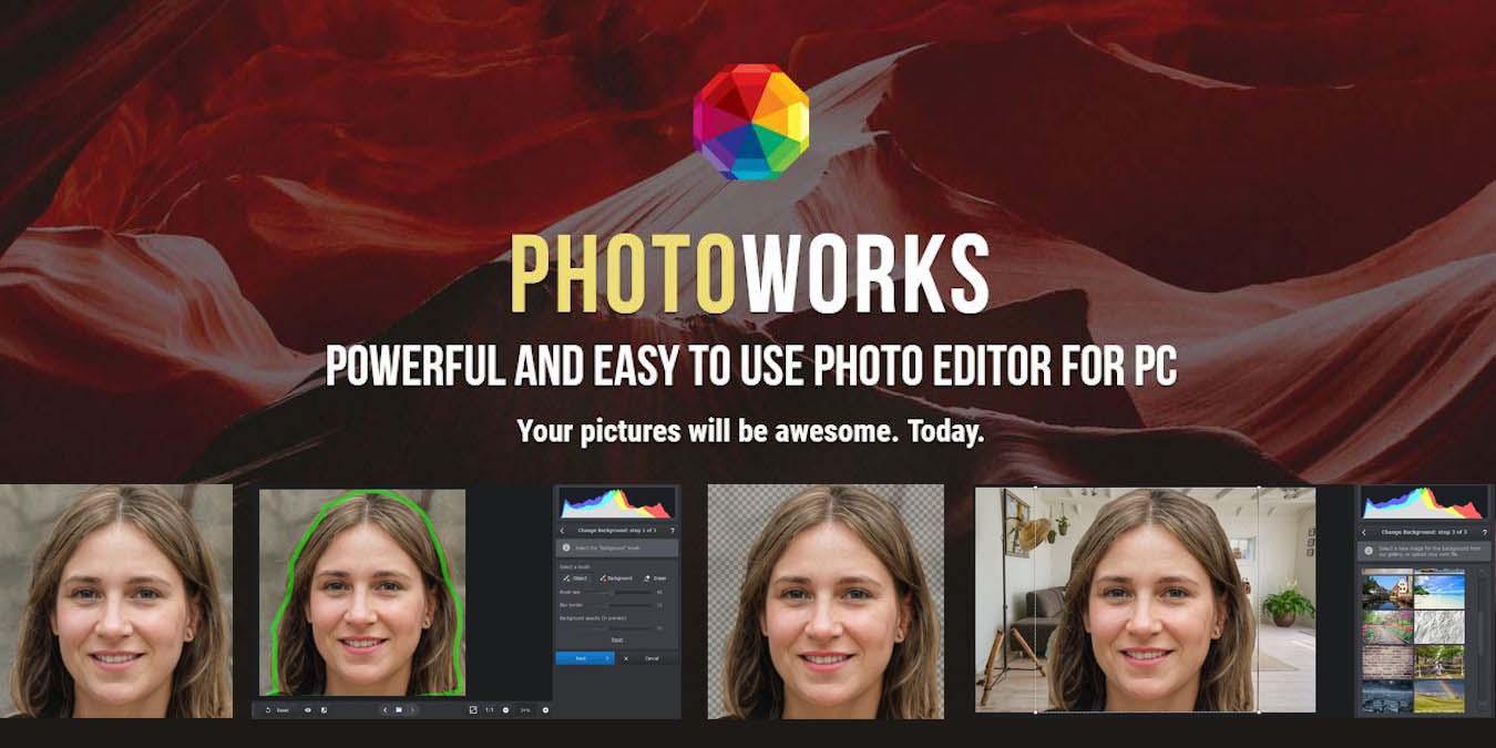 Mejora de fotos fácil y potente con PhotoWorks