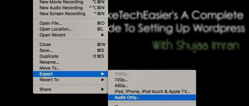 Utilice QuickTime para extraer fácilmente el audio de los archivos de vídeo en Mac [Consejos rápidos]