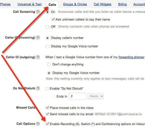Cómo grabar una llamada de Google Voice