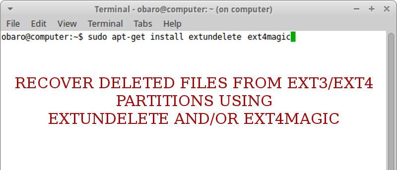 Recuperar archivos del sistema de archivos Ext3Ext4 con Linux Live CD