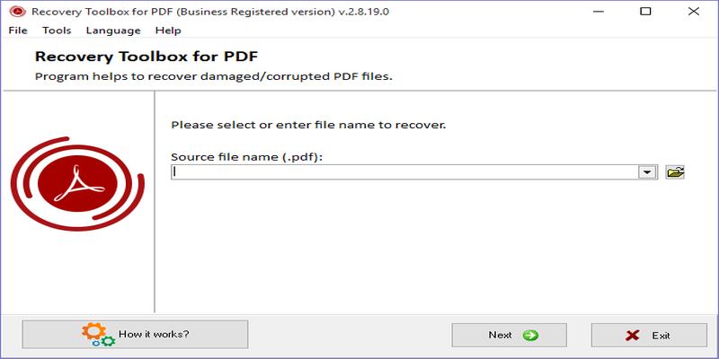 Recovery ToolBox for PDF: Una forma fácil de reparar archivos PDF corruptos