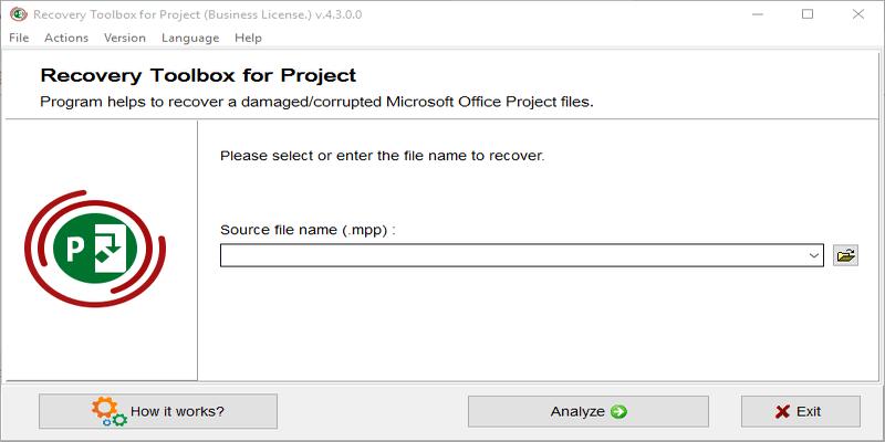 Recovery Toolbox for Project: Una potente herramienta de recuperación de proyectos