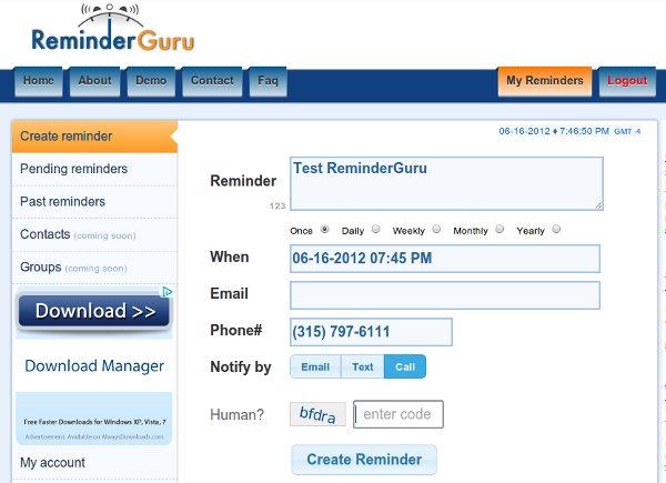 4 más servicios de recordatorio en línea para recordar diferentes eventos y tareas