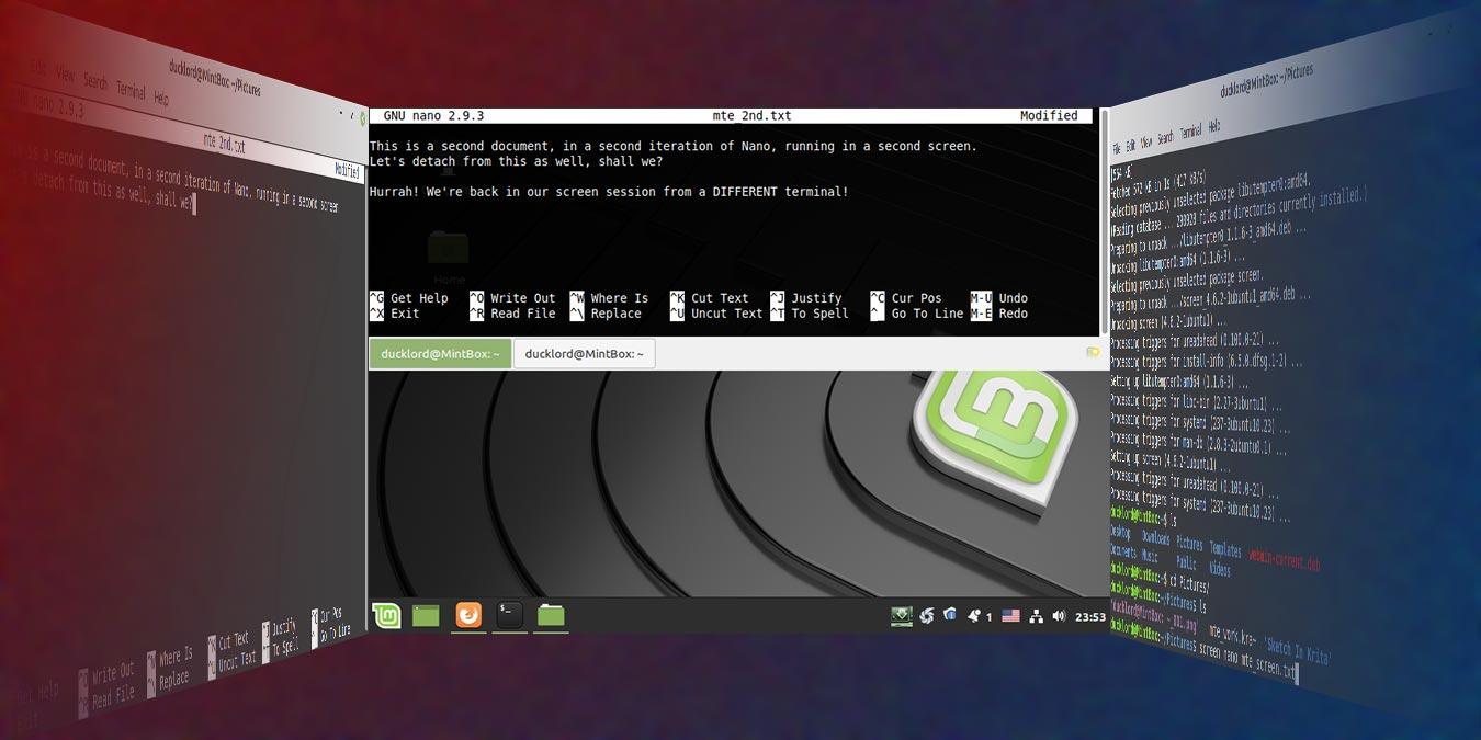Cómo hacer una multitarea en la terminal de Linux con la pantalla