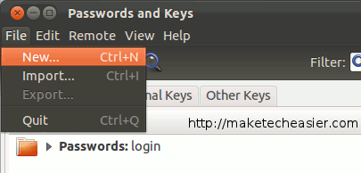 Una forma más fácil de generar una clave SSH pública / privada a través de una GUI [Linux]