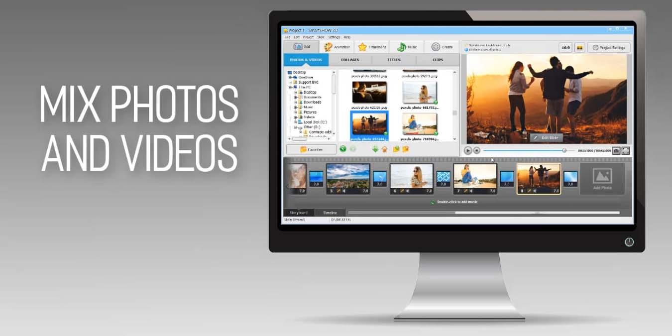 Convierta las fotos en videos musicales con SmartSHOW 3D