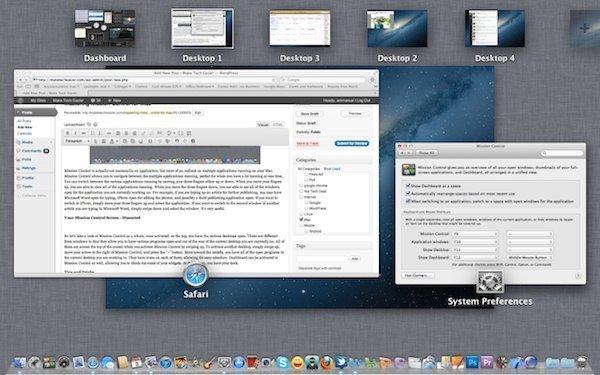Consejos y trucos útiles para utilizar Mission Control en Mac