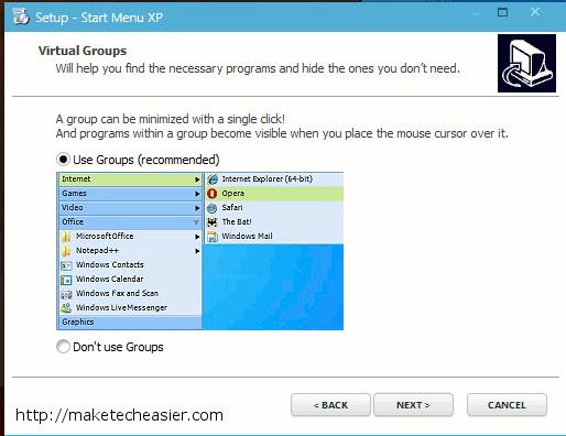 StartMenuXP restaura su menú de inicio a XP Style [Windows]