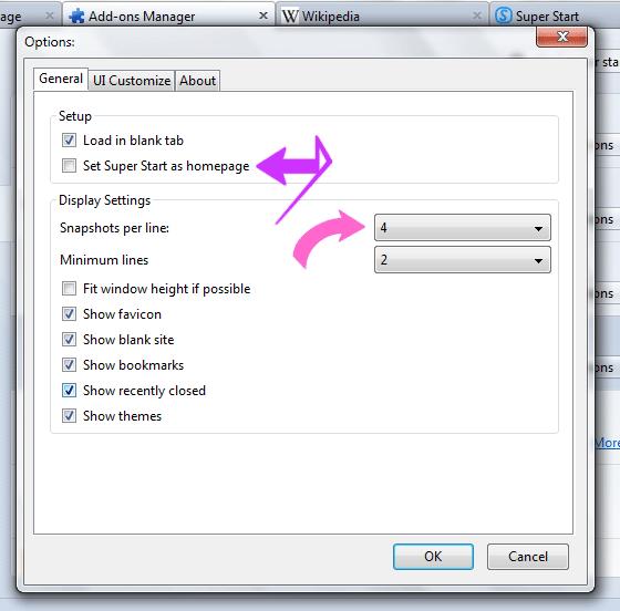 Organice sus marcadores con estilo con la extensión Super Start para Firefox
