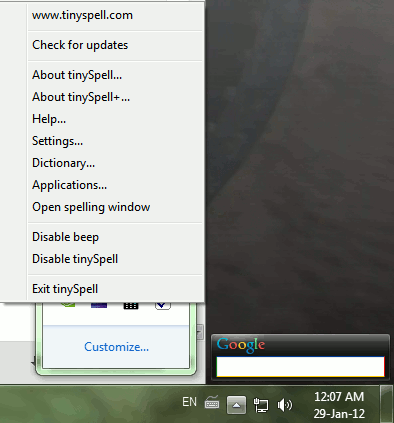 Agregar corrección ortográfica a aplicaciones de Windows usando TinySpell