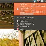 Cómo mostrar el uso del sistema de archivos en la bandeja del sistema de Ubuntu