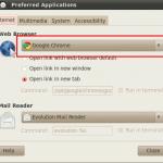 Snippet: Cómo hacer Google Chrome como el navegador predeterminado en Ubuntu