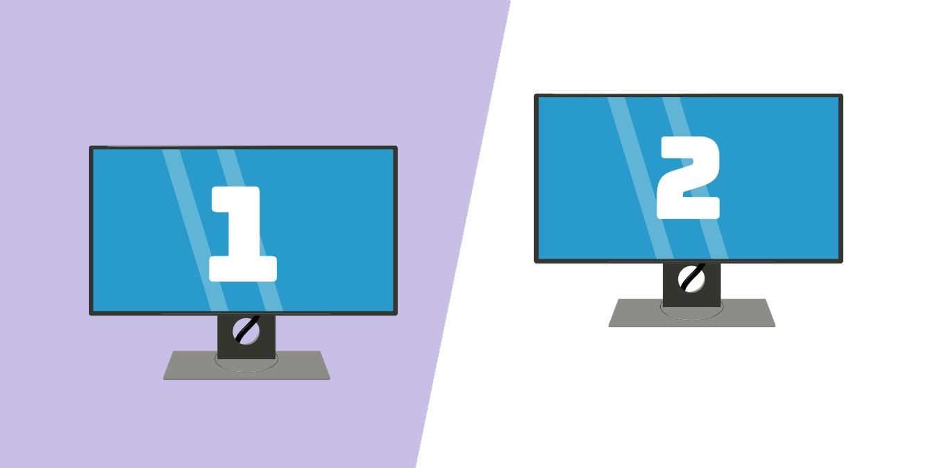 Cómo configurar diferentes fondos de pantalla en una configuración de doble pantalla