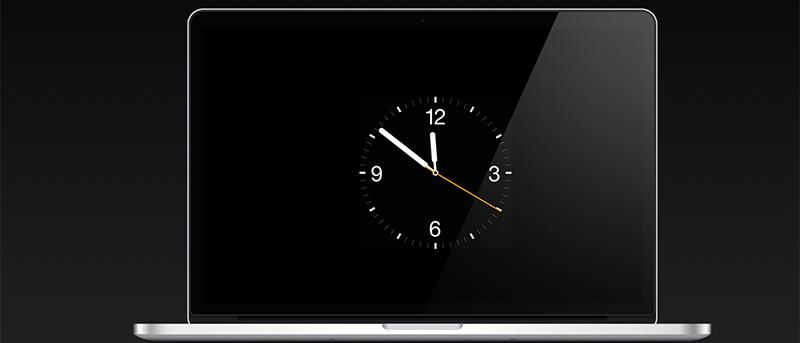 Establezca la esfera del reloj del Apple Watch como protector de pantalla en su Mac