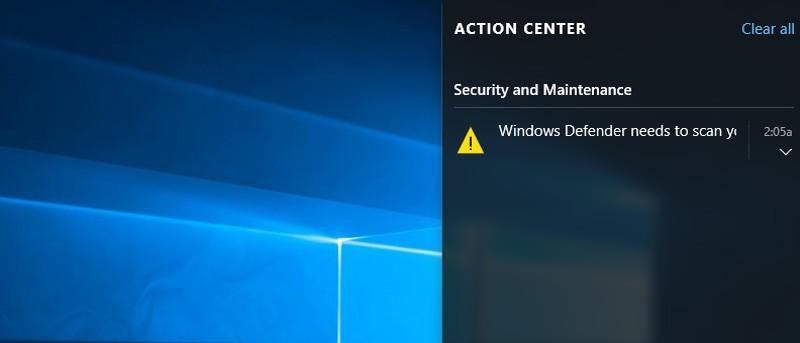 Cómo desactivar el Centro de Acción en Windows 10