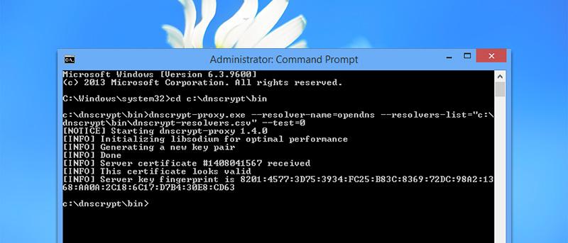 Cómo cifrar el tráfico DNS en Windows con DNSCrypt
