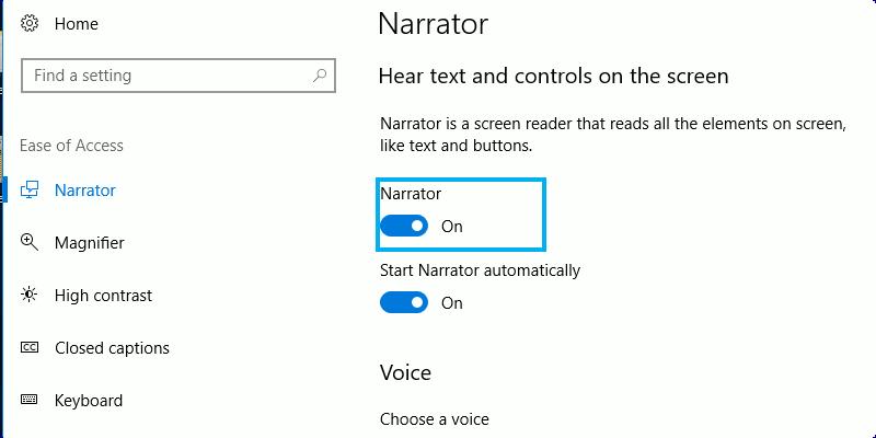 Cómo utilizar el Narrador de Windows para convertir su texto en voz