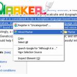 Resalte y marque el texto y las fotos en Firefox con el marcador con cable