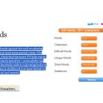Cómo saber el número de palabras de cualquier texto en Firefox