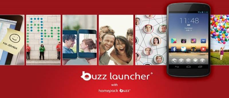 Aplique las pantallas domésticas de otros a su teléfono Android con Buzz Launcher