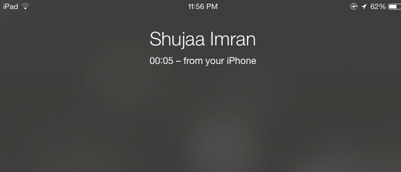 Cómo usar su iPad para colocar / recibir llamadas (a través de iPhone)