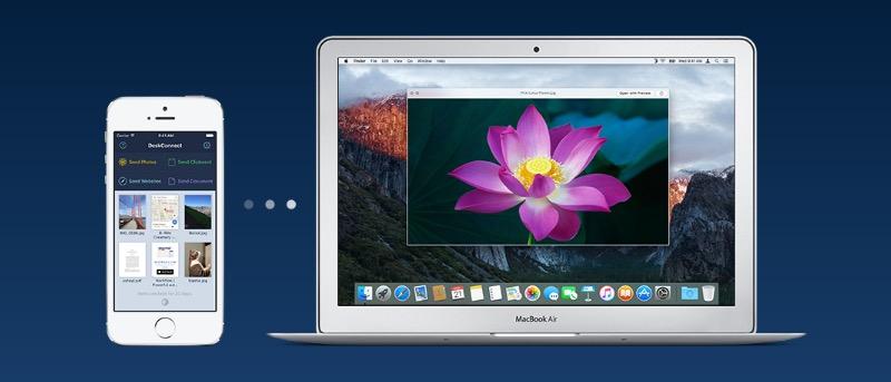 DeskConnect - Envíe archivos fácilmente entre el Mac y los dispositivos iOS