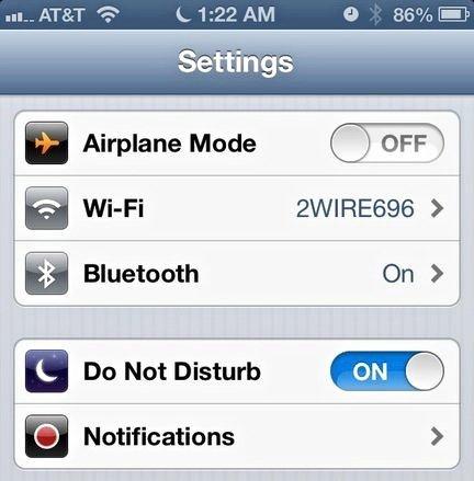 Administrar grupos de contacto y no molestar en iOS 6