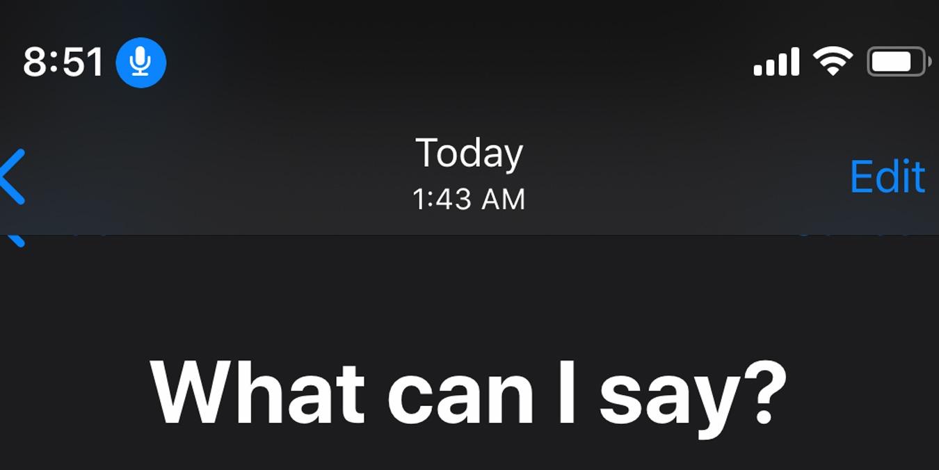 Cómo usar el control de voz en iOS 13