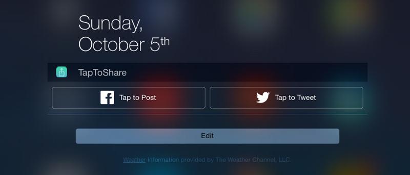 Cómo agregar Facebook / Twitter Compartir widget al Centro de notificaciones de iOS 8