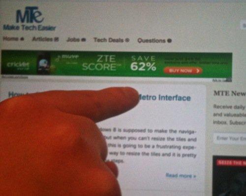 Aprender los gestos y la pantalla táctil en un iPad