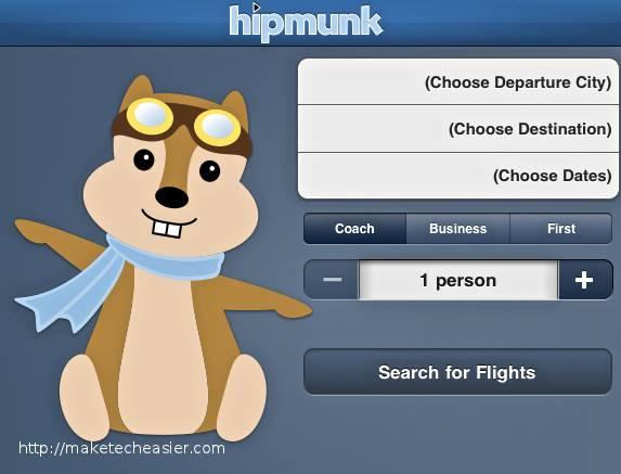 La planificación del vuelo es fácil con la aplicación Hipmunk para iOS